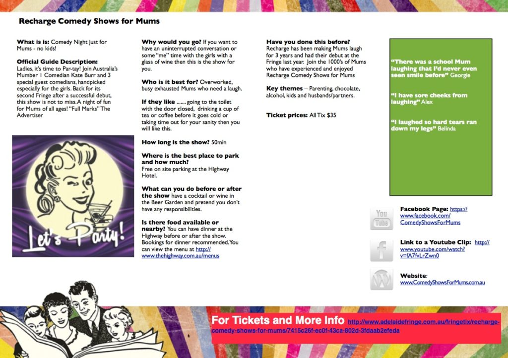 Recharge Comedy Shows for Mums