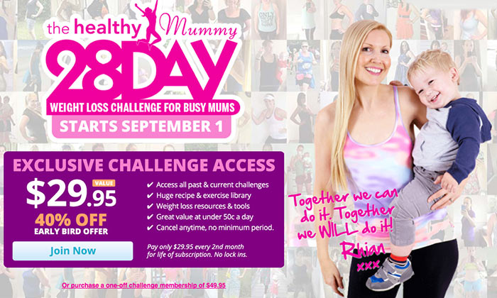 40 Off The 28 Day Weight Loss Challenge For Mums Mum Central