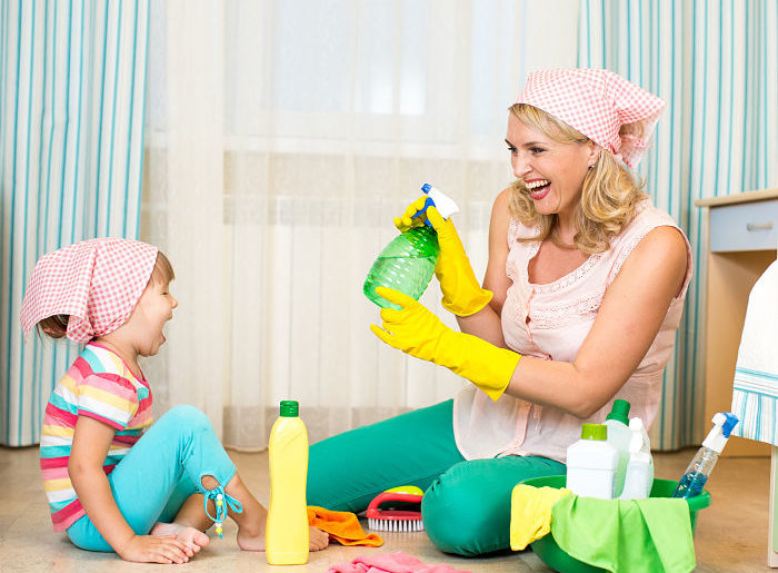 encourage kids to clean