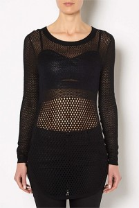 witchery pointelle mesh knit