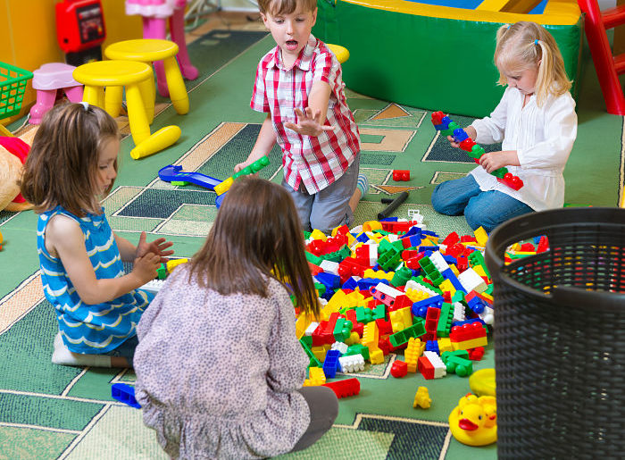 children playing at childcare centre