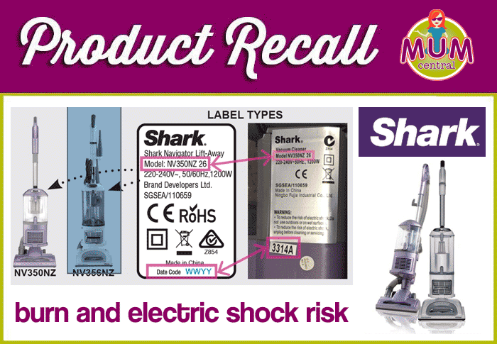 product recall shark vacuum cleaners recalled over burn and electric shock risk