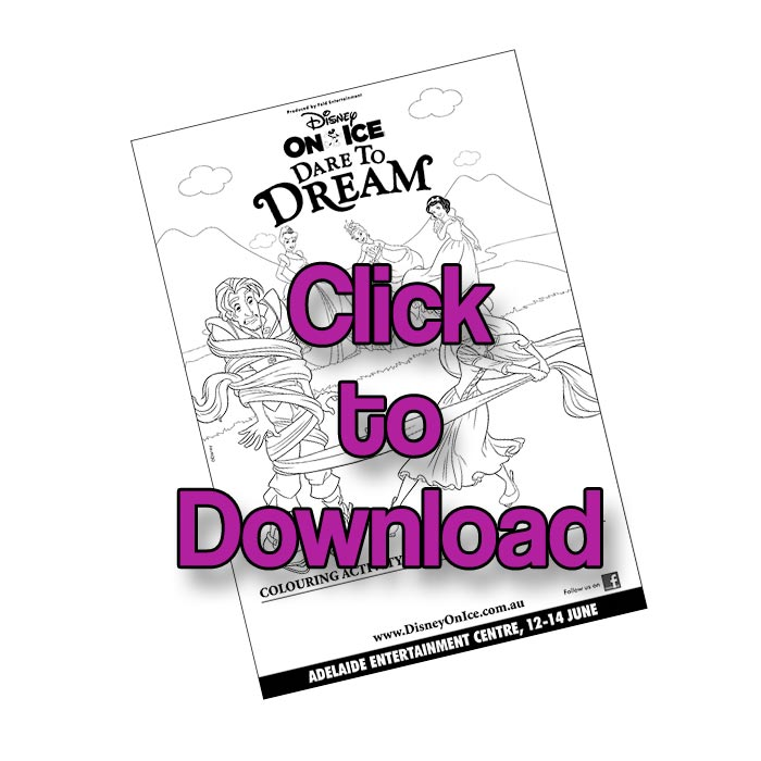 Download the Disney Printable Colouring Page - Dare to Dream