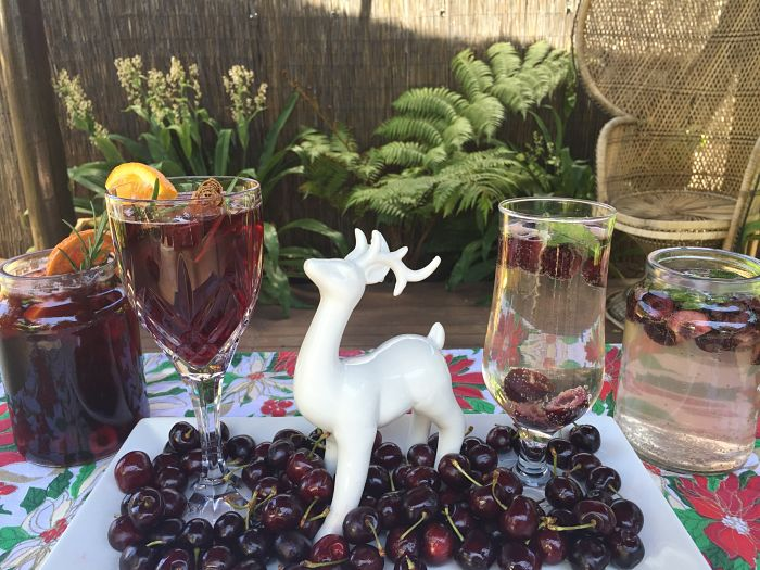 Christmas sangria cherry spice delight