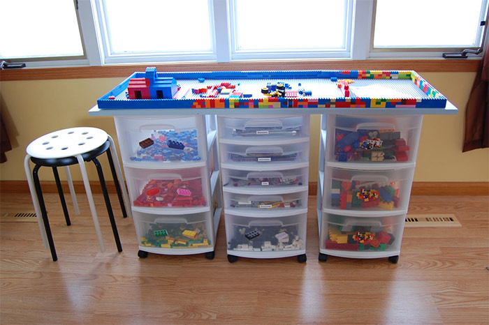 23 Clever Kids Lego Storage Ideas You and Your Kids Will Love!  Mum Cen -> Table Range Lego