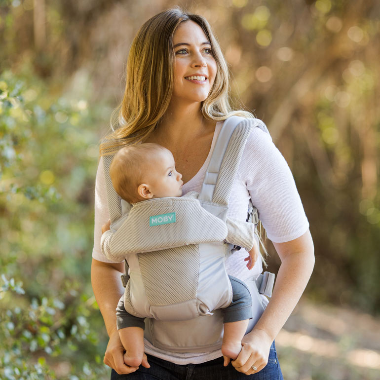 baby in Moby Move baby carrier