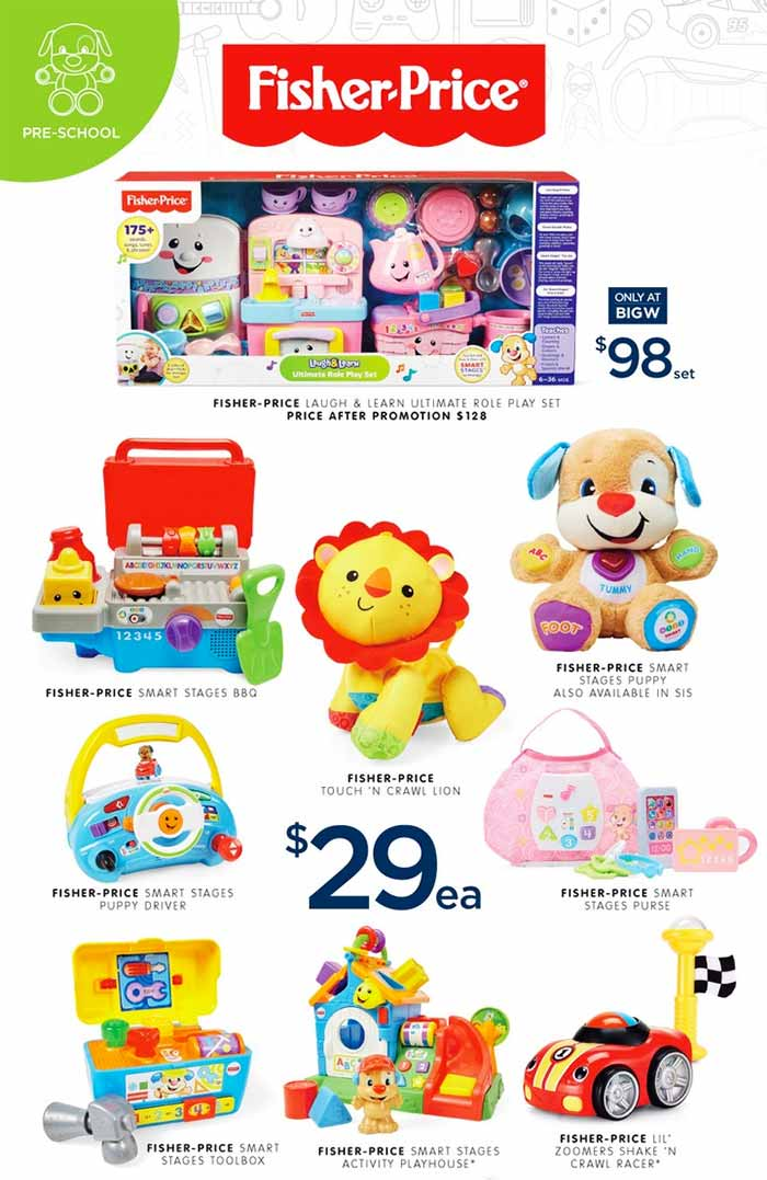 Toys For Big : Big w toy sale learn and explore with fisher price