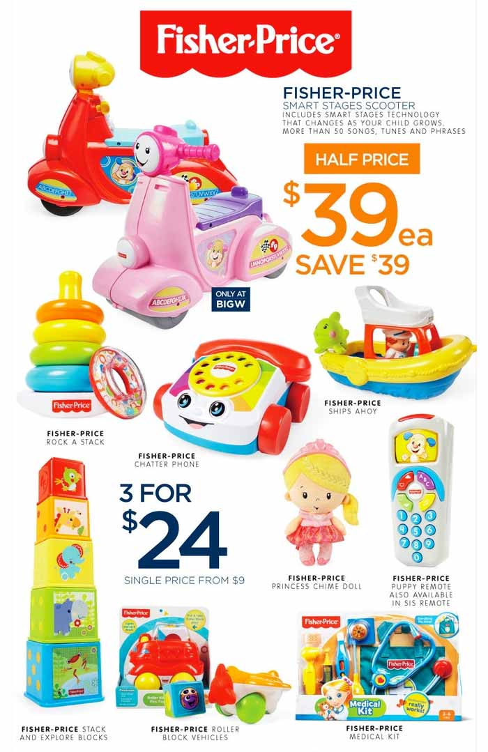 2016 Big W Toy Sale Learn And Explore With Fisher Price