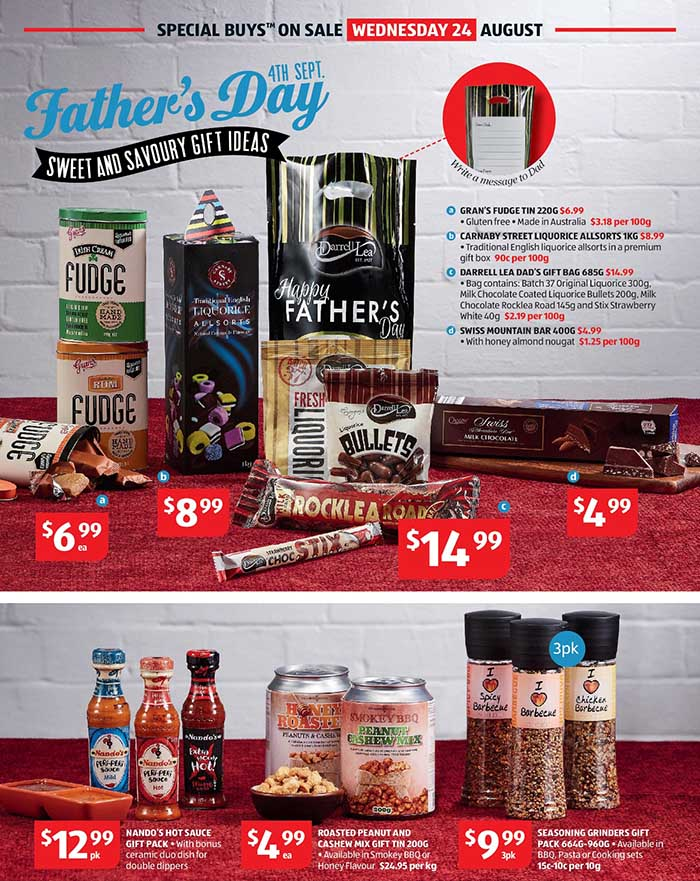 ALDI Fathers Day Treats