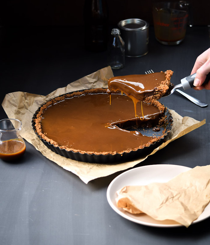 Salted-Bourbon-Caramel-and-Chocolate-Nutella-Tart