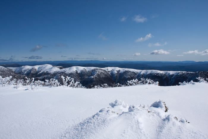 The Razorback and Mt Feathertop
