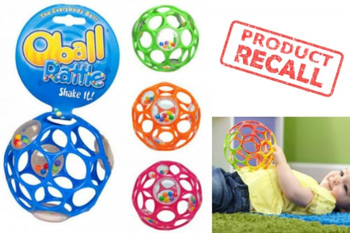 oball rattle recalled