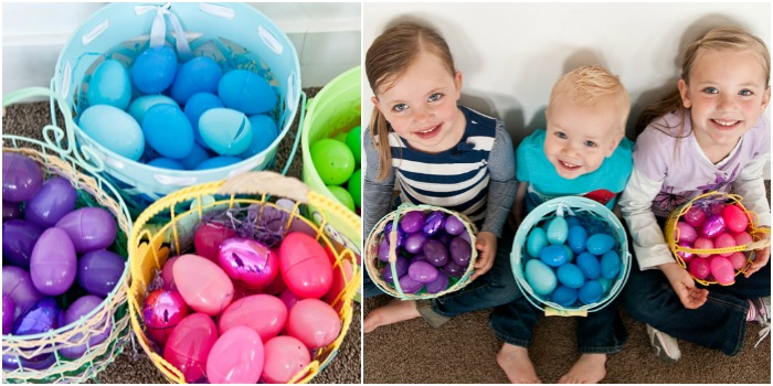 colour coded easter egg hunt