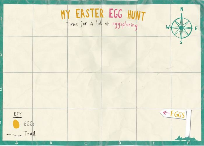 easter egg hunt map