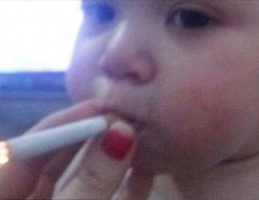 baby smoking outrages internet
