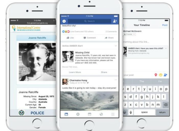 Facebook introduces the AMBER alert system to Australia