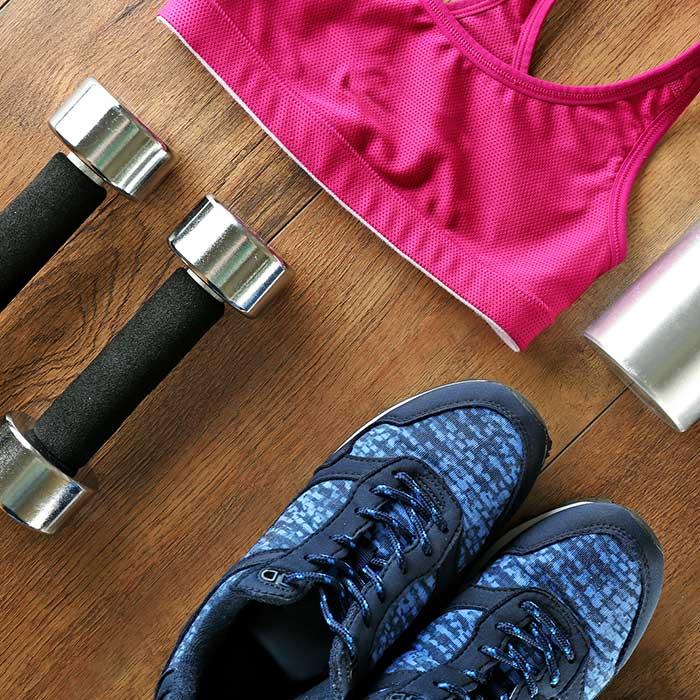 laying-out-workout-clothes