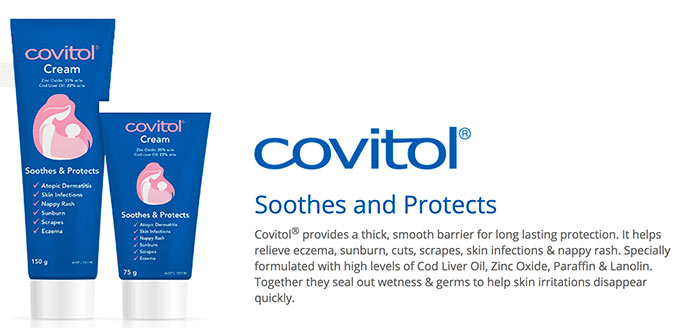 covitol soothes and protects newborn baby