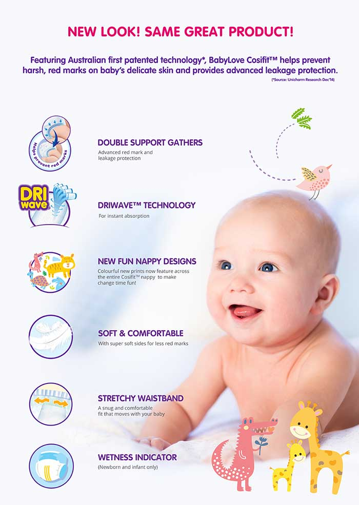 BabyLove Cosifit nappies new look Cosifit