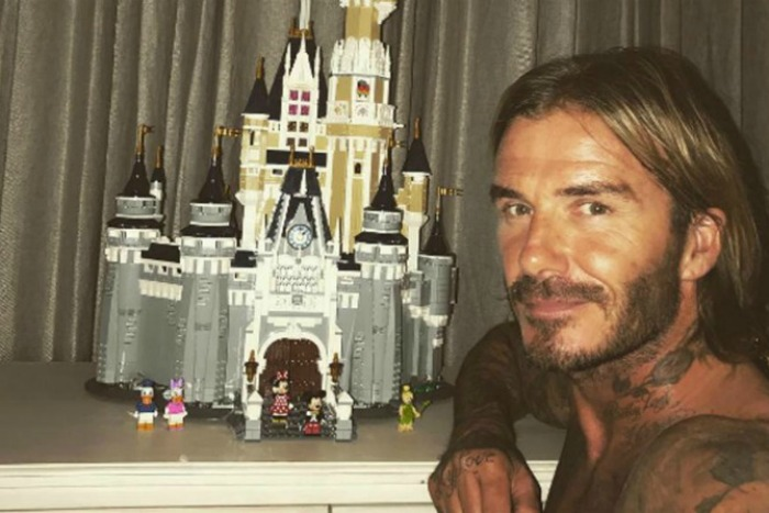David Beckham Lego castle