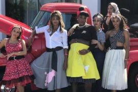 Serena Williams And Gal Pals Twist On Down at 50s Themed Baby Shower