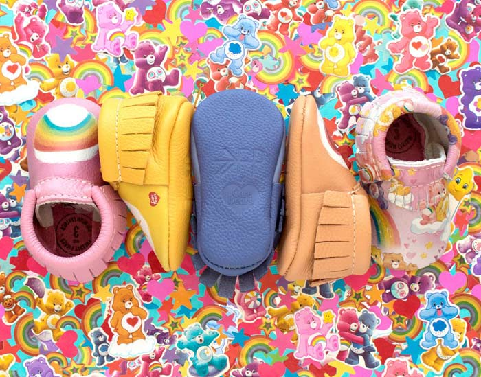 Care Bear baby mocs Freshly Picked