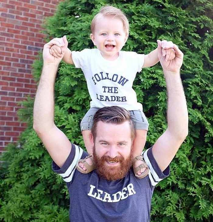 Follow the Leader Etsy daddy and me tee