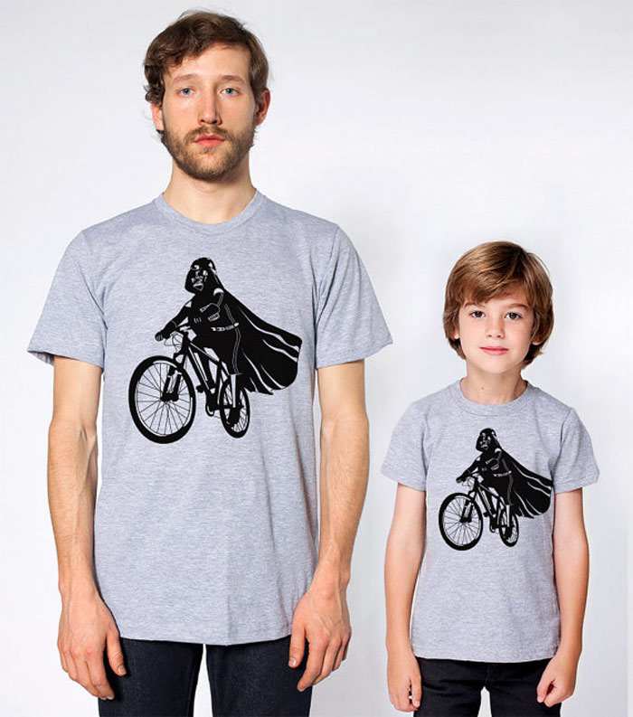 matchiung father and son t-shirt set etsy Darth Vader