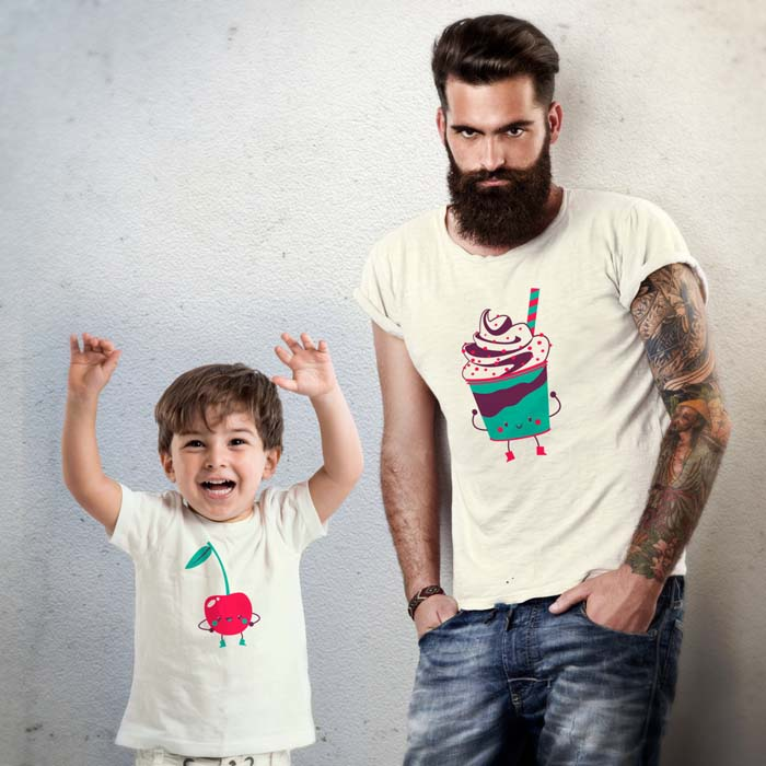 Cherry Sundae daddy and me t-shirt Etsy