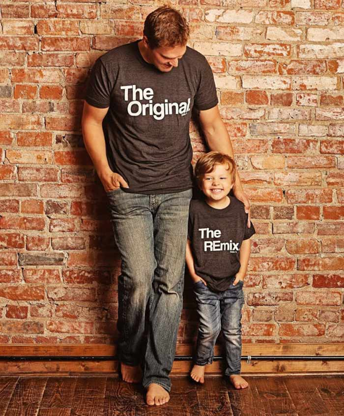 761f3cc8 It doesn't get much cooler than 'the original' and 'the remix' for the  ultimate dad-offspring twinning duo. ($32).