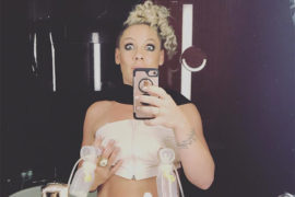 Pink posts a hilarious breast pump photo