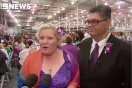 Sue Berkeley and Eli Bob at their Costco wedding in Sydney