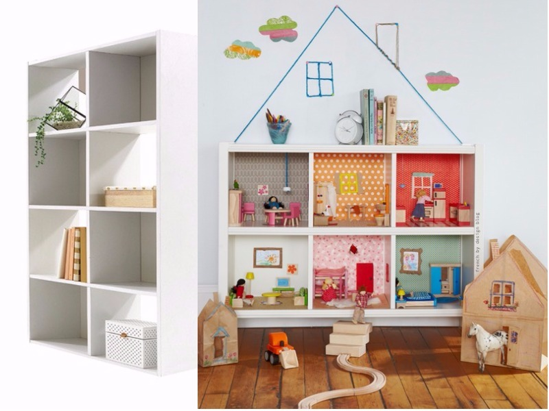 clever Kmart hacks for kids - doll house