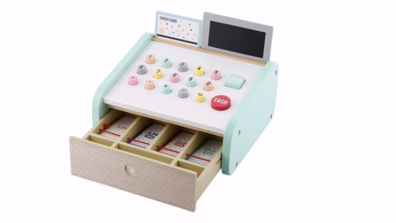 Kmart wooden cash register