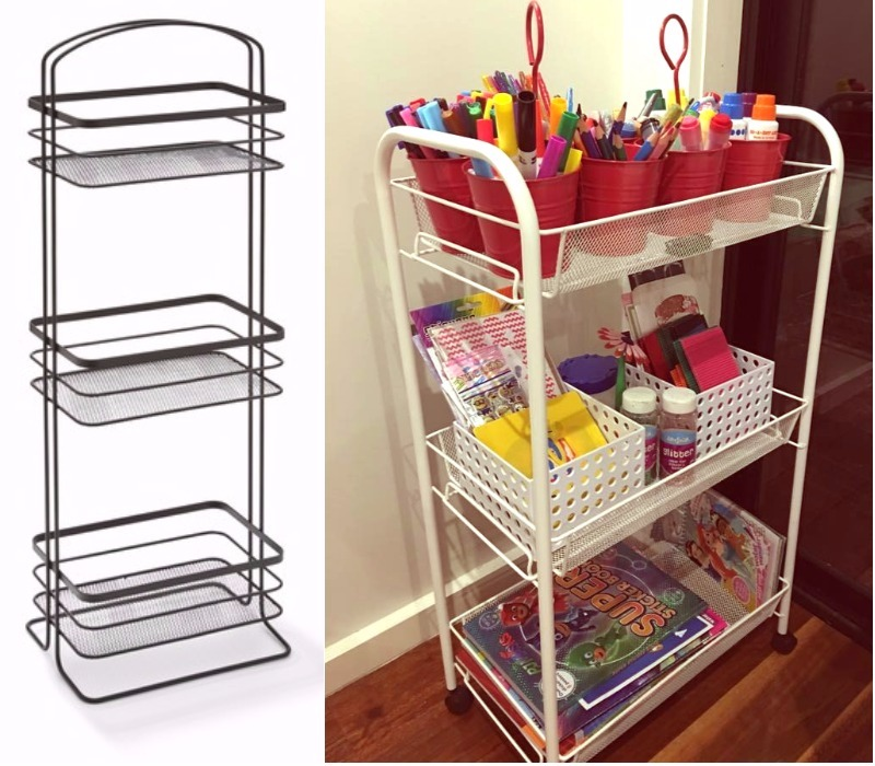 clever Kmart hacks for kids craft storage