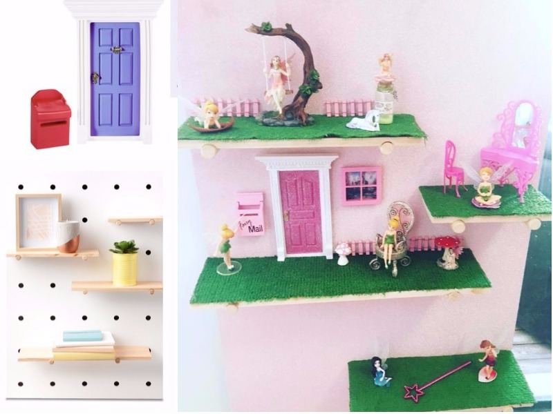 Kmart peg board fairy garden hack