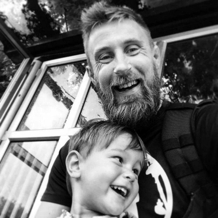 Richard Pringle and son Hughie - lessons after death of child