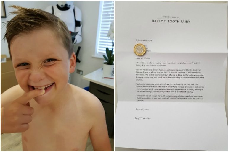dad writes a tooth fairy letter