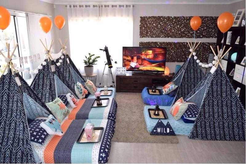 slumber party ideas for boys