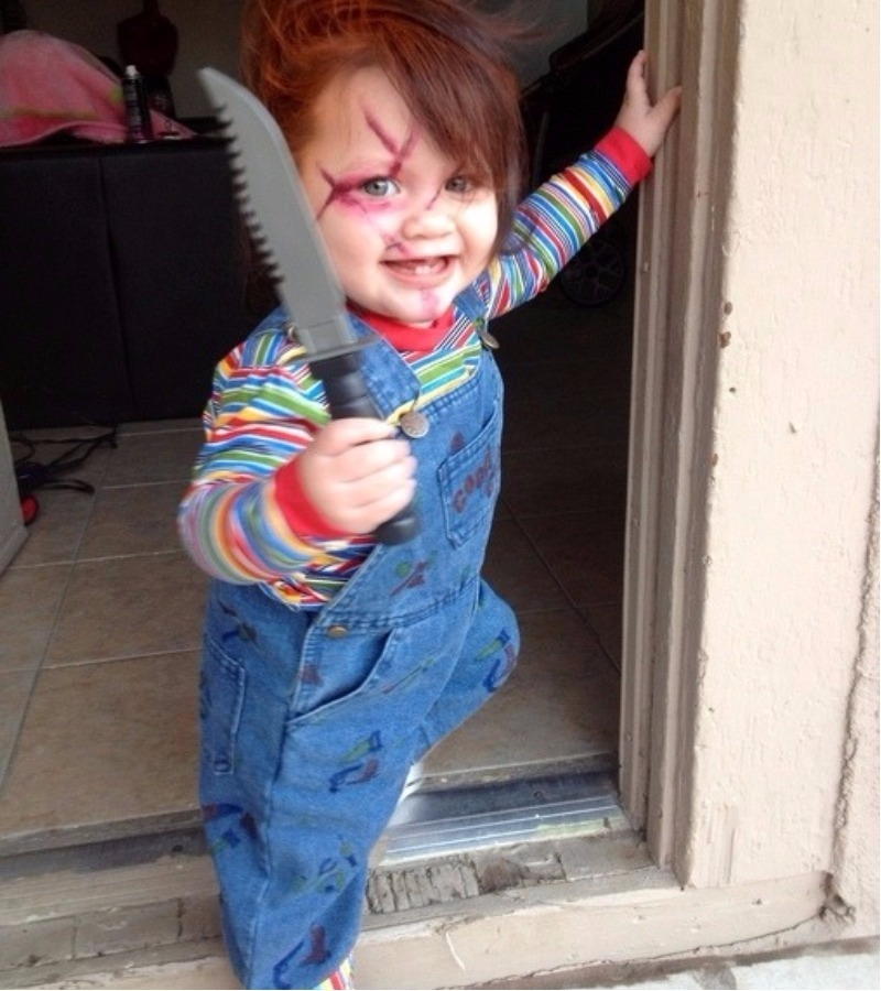 Chucky toddler Halloween dress up idea