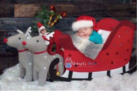 Kmart Christmas hacks for baby photo
