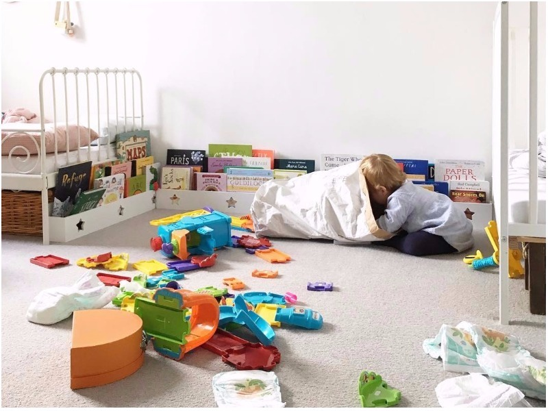 messy playroom