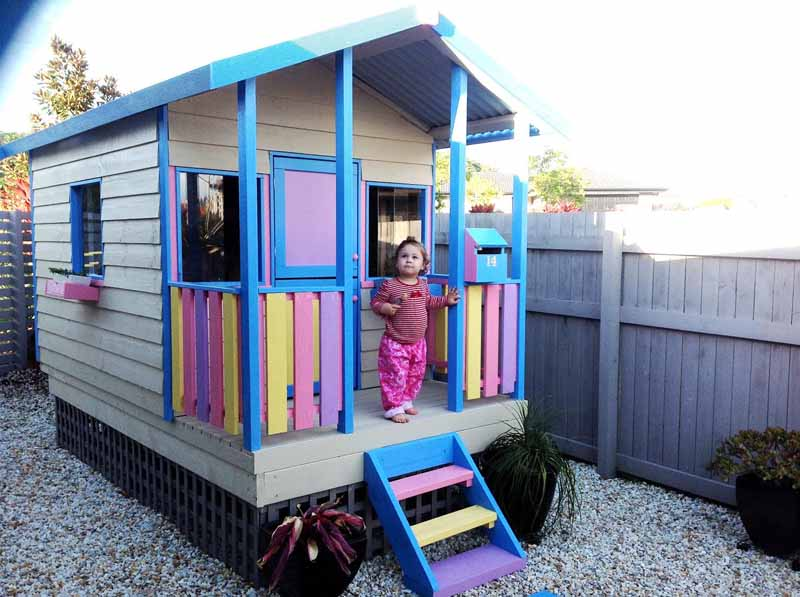 painted Aarons villa cubby