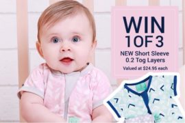 ergoPouch Layers summer sleep suits giveaway