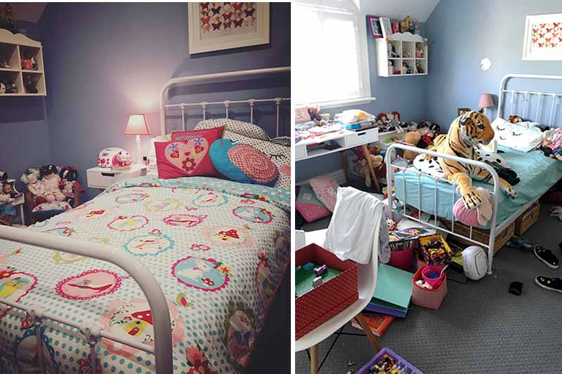 kids messy rooms