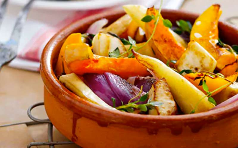 roasted vegetables in air fryer