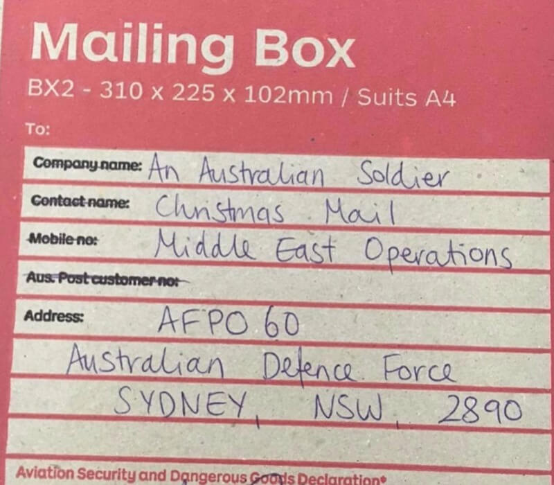 How To Send Care Packages to Aussie Troops This Christmas | Mum Central