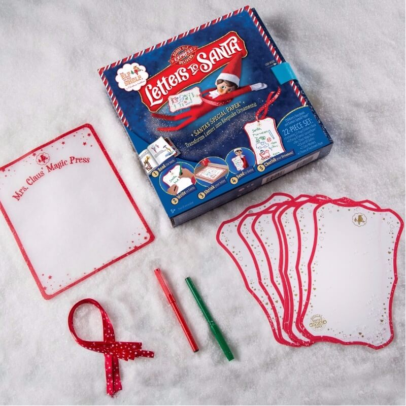Elf on the Shelf letters to Santa set