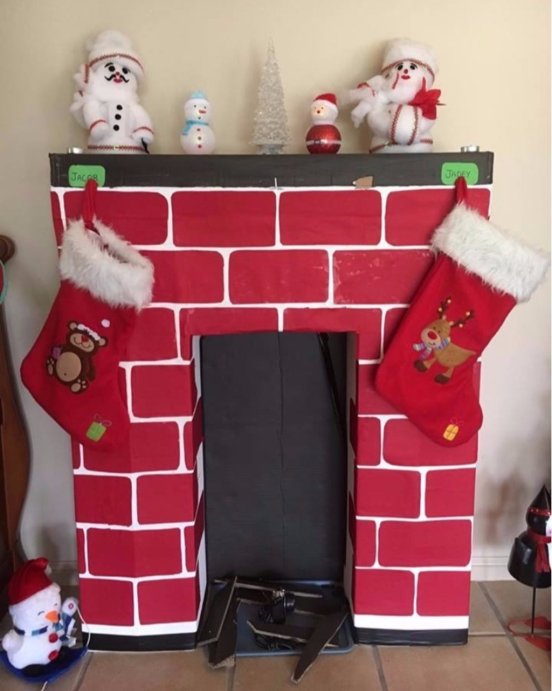 Christmas Kmart Hacks DIY Fireplace