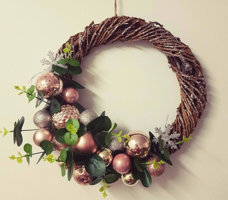Christmas Kmart Hacks Wicker Wreath